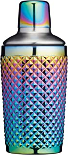 BarCraft Studded Glass Cocktail Shaker, 300 ml (10.5 fl oz) - Rainbow-Pearl Iridescent Finish