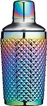 BarCraft Studded Glass Cocktail Shaker, 300 ml (10.5 fl oz) - Rainbow-Pearl Iridescent Finish