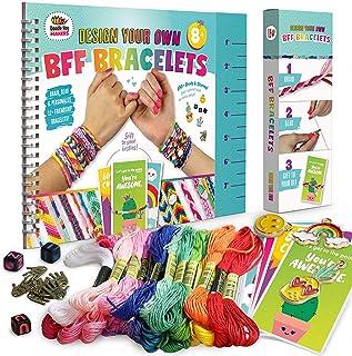 Friendship Bracelet Making Kit, Huge Value, Letter Beads, Crafts For Girls, 20 Multi-Color Embroidery Floss, A-Z Alphabet ...