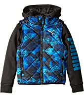 Puma Kids - Hoodie Vest Printed Jacket (Little Kids)