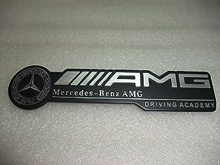 Automaze AMG Performance Emblem Sticker 3D Car Black & Chrome Grill Badge Logo Sticker For Mercedes Benz Cars