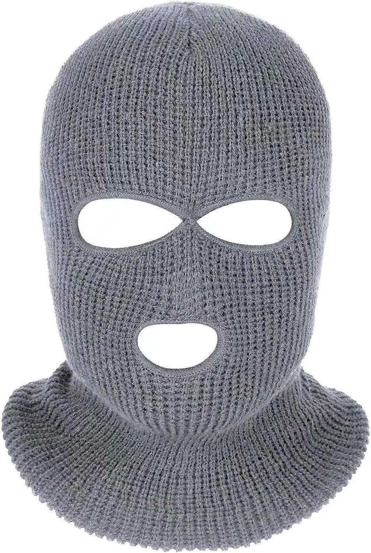 3-Hole Beanie Face Mask Ski-Warm Knit-Men and Women
