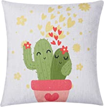 Cute Cactus Couple Pillow Cover Romantic Valentine's Day Decorative Throw Pillow Case Home Decoration