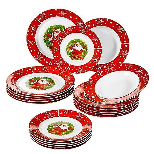 Christmas Plate Set.Christmas Plate Set Amazon Co Uk