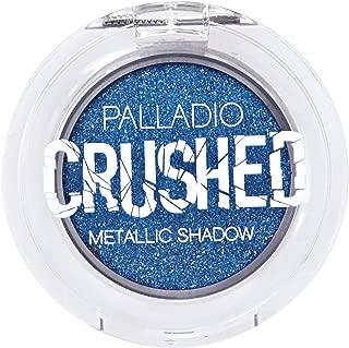 Palladio Crushed Metallic Eyeshadow, Blue Moon, Pressed Pigments for Highly Reflective Foil Finish, Cream Eyeshadow w/ No Creasing, Amazing Color Depth, Apply Glitter Eyeshadow with Eyeshadow Brushes