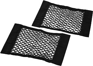 Tronco De Almacenamiento Neta, dimik 2 Pack Velcro coche Net