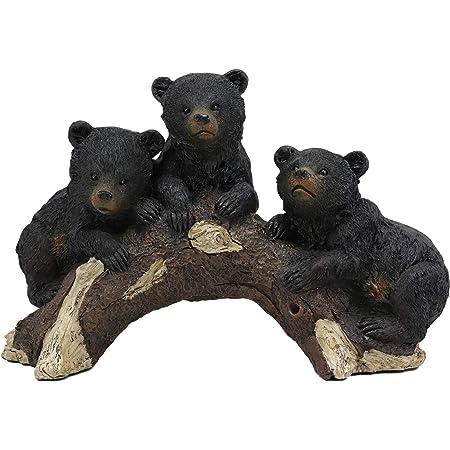 Realistic Black Bear Wildlife Families Figurine Indoor Home Decor