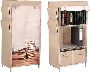 Trendy Home GmbH Stoffschrank Bücherschrank Bücherregal Regal mit Buch Motiv Zeitungshalter SSV