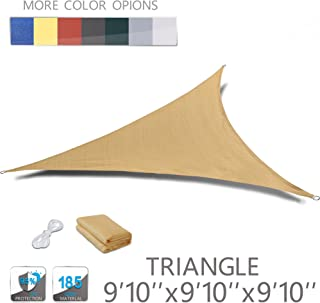 Love Story 9'10'' x 9'10'' x 9'10'' Triangle Sand UV Block Sun Shade Sail Perfect for Outdoor Patio Garden