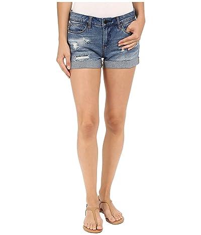 Blank NYC Denim Cuffed Distressed Shorts in Weekend Warrior (Blue) Women