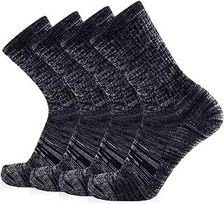 Women's Extra Warm Merino Wool Micro Crew Cushion Socks 4 Pairs