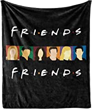 """Friends Blanket Quilt TV Show Flannel Throw Blanket for Sofa Couch Bed (Black Friends, 80""""x60"""")"""