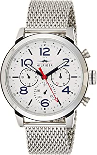 Tommy Hilfiger Casual Watch Analog Display Quartz For Men 1791233, Silver Band