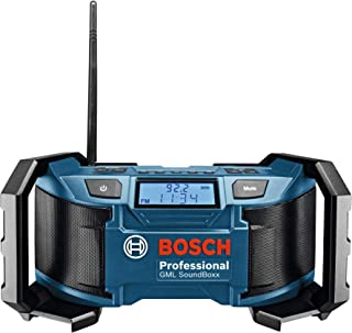 Bosch Professional 0601429900 GML Soundboxx (Radio/Radio-Réveil MP3, Stations Radio..