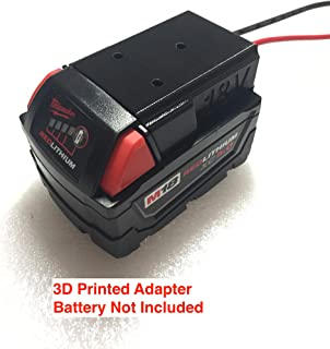 Battery adapter for Milwaukee 18V M18 XC18 lithium-ion 18volt dock accessory mountable power connector