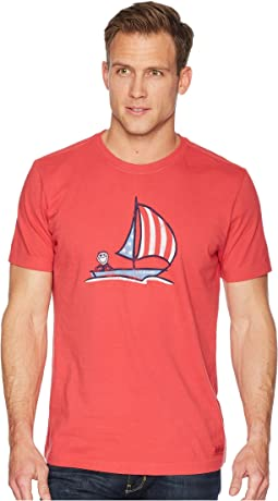 Americana Sailboat Crusher Tee