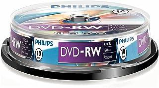 Philips DVD-RW 4.7GB Data/120Min Video, 4X Speed Recording 10er Spindel