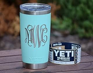 Monogrammed Tumbler Additional Colors Available - Engraved Yeti Rambler - 20 oz Yeti - 30 oz Yeti - Personalized Yeti - Yeti Gift - Laser Engraved Yeti - Yeti Tumbler - Yeti Cup - Yeti Monogram