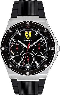 Ferrari Mens Quartz Watch, Chronograph Display and Silicone Strap 830537