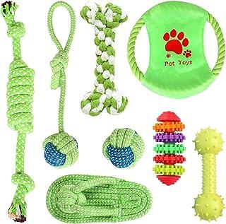 Simpeak Hundespielzeug [8 Stück], Hundespielzeug Set für Welpen & kleine Hunde, Spiel & Spaß mit dem Haustier, Hundezubehör - Natürliche