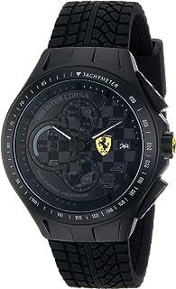 Ferrari Men's 0830105 Race Day Analog Display Quartz Black Watch