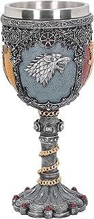 Nemesis Now Sigil Game of Thrones bägare, konstharts, med rostfritt stål, 18 cm, silverfärger