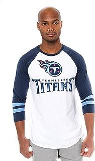 Ultra Game NFL Men's T Raglan Baseball 3/4 Long Sleeve Tee Shirt