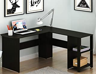 Nice SHW L Shaped Home Office Corner Desk Wood Top, Espresso