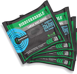 Surviveware Biodegradable Wet Wipes - 4 Travel Packs