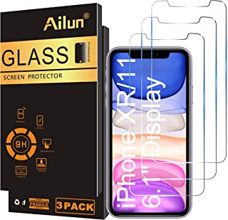 Ailun Glass Screen Protector for iPhone 11/iPhone XR 6.1 Inch 3 Pack Tempered Glass Screen Protector for Apple iPhone 11/i...