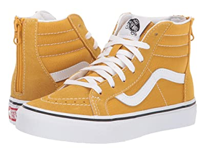 Vans Kids Sk8-Hi Zip (Little Kid/Big Kid) (Arrowwood/True White) Boys Shoes