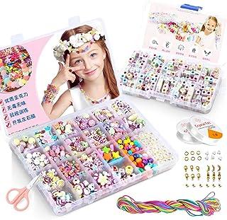 KAIMIRUI 1200 kralen voor het maken van sieraden voor kinderen, armbanden, halskettingen, sieraden voor meisjes en kindere...
