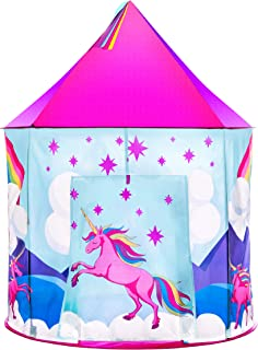 USA Toyz Unicorn Play Tent for Kids, Indoor Pop Up Playhouse Tent for Girls and Boys with Included Unicorn Headband and Kids Tent Storage Carry Bag