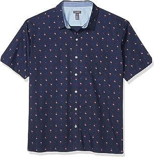 Van Heusen Men's Classic Fit Never Tuck Short Sleeve Button Down Shirt