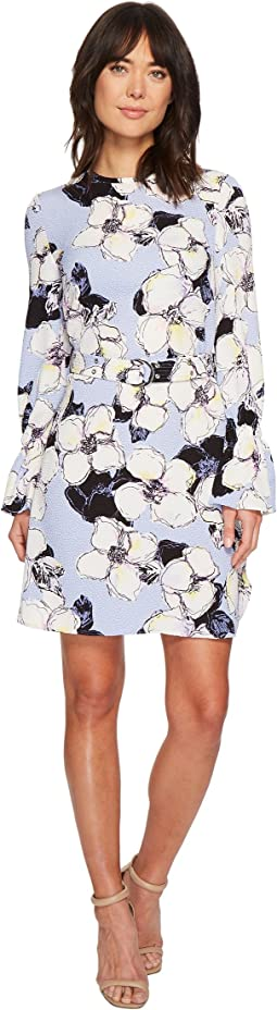 Ellen Tracy - Cloque Belted Shift Dress