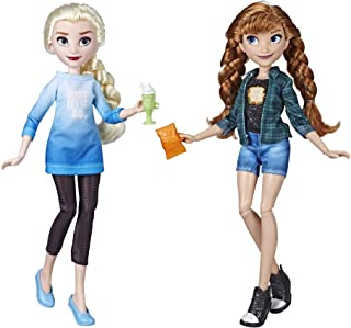 Disney Princess Ralph Breaks The Internet Movie Dolls, Elsa & Anna Dolls with Comfy Clothes & Accessories
