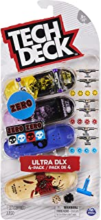 VINGER-SKATEBOARDS, TECH DECK, SET VAN 4 VINGER-SKATEBOARDS, Authentieke vinger-skateboards om te personaliseren, 96 mm, 6...