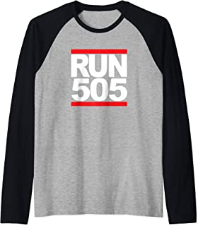 Run 505 Albuquerque NM Vintage Running Raglan Baseball Tee