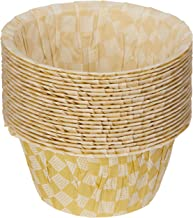 RedMan 56326 Muffin Baking Case Grid, 50mm x 40mm x 80mm, Gold (Pack of 100)