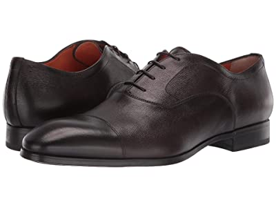 Santoni Ethan Simon Lace-Up (Dark Brown) Men