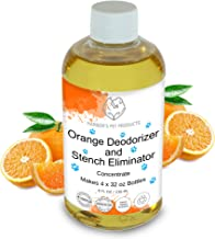 Harbor's Orange Deodorizer and Pet Stench Eliminator. Removes Dog & Cat Urine. Instantly Cleans Rugs, Furniture, Mattresses with Pleasant Natural Aroma. Bottle of Concentrate Makes 1 Gal of Spray