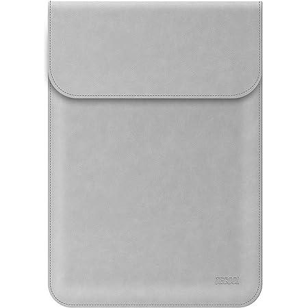 TECOOL 13-13.3 Zoll Laptop Hülle Kunstleder, Laptop Schutzhülle Case Tasche Sleeve für MacBook Air 13 (A1466/ A1369) 2010-2017/2013-2015 MacBook Pro 13 Retina (A1502/ A1425) - Grau