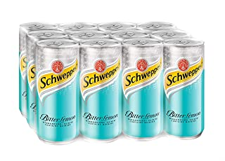 Schweppes Bitter Lemon, 320ml (Pack of 12)