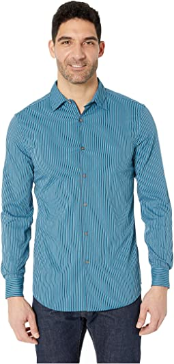 Slim Fit Stretch Stripe Shirt