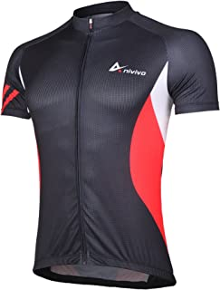 ANIVIVO Men Cycling Jersey Short Sleeves, Bike Shirts for Men &Full Zip Road Bike Jersey with Pockets