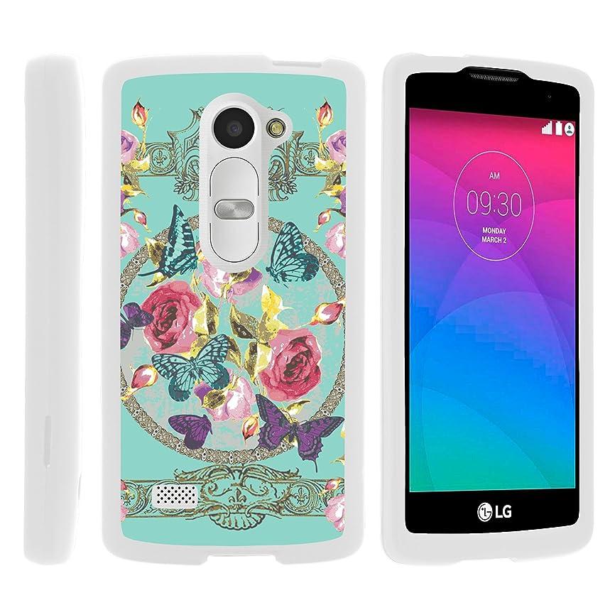 MINITURTLE Case Compatible w/LG Tribute 2 LS665 Phone Case, Hard Shield Phone Case Hard Jacket w/Unique Designs for LG Leon C40, Tribute 2, Power L22C, Destiny Sunset Royal Flowers and Butterfly