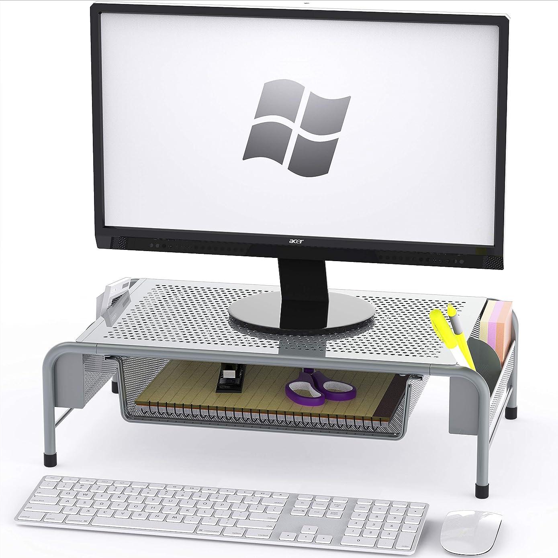 带整理抽屉的办公桌显示器支架