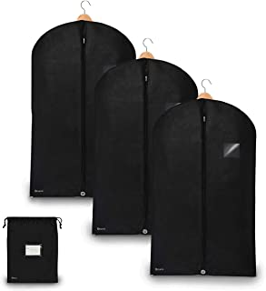 Bruce. 3 x Premium Garment Bag incl. Shoe Bag   39.4 x 23.6 inches   Suit Bags for Travel and Storage   Breathable Bags for Suits, Jackets and Dresses (39.4 x 23.6 inches - 100 cm x 60 cm)