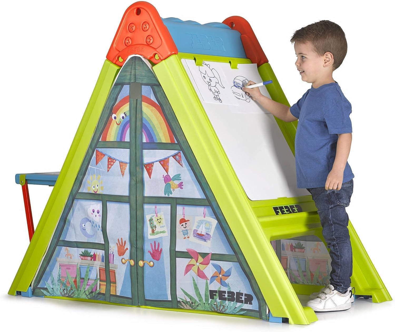 FEBER Famosa 800011620 - Play&Fold - Spielplatz 4 in 1, faltbar, für Kinder von 2 bis 5 Jahren