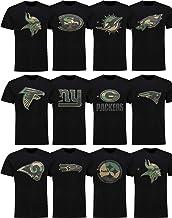 New Era NFL T-Shirt Saison 2019 2020 Offiziel Football Herren Damen Team Logo Shirt schwarz Camouflage